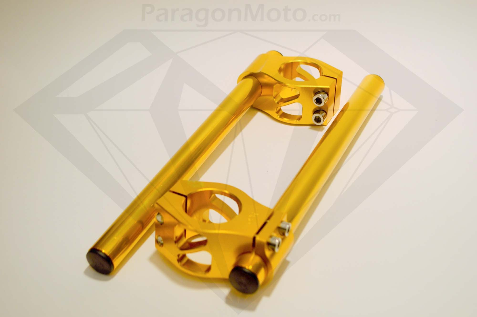 "7/8"" 39mm Clip-on Motorcycle Handlebars (gold) - Paragon Moto  - 1"
