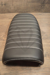 Black Caterpillar Style Seat - Flat Back Brat - Paragon Moto  - 8