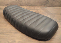 Black Caterpillar Style Seat - Flat Back Brat - Paragon Moto  - 9