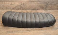 Black Caterpillar Style Seat - Flat Back Brat - Paragon Moto  - 3