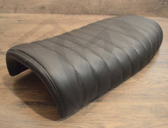 Black Caterpillar Style Seat - Flat Back Brat - Paragon Moto  - 2