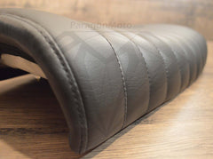 Black Caterpillar Style Seat - Flat Back Brat - Paragon Moto  - 5