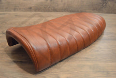 Brown Flat Caterpillar Style Seat - Paragon Moto  - 1
