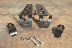 Black Headlight Mounting Brackets (31mm-43mm Forks) - Paragon Moto  - 2