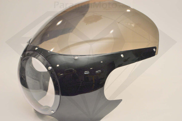 Headlight Fairing (black) - Paragon Moto  - 1