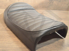 Paragon Moto Black Cafe Racer Hump Seat for Honda Yamaha Suzuki and more