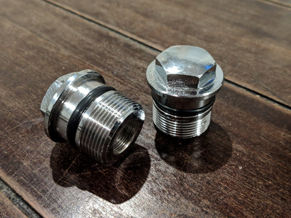 Honda Chrome Fork Bolt Cap Set