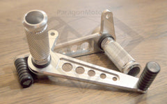 CNC Alloy Universal Rearset Foot Pegs Cafe Racer - silver - Paragon Moto  - 4