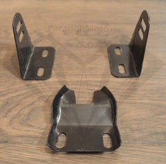 Brackets for Paragon Moto Leather Look Cafe Racer Flat Brat Seats. Fits Honda Yamaha Suzuki and more