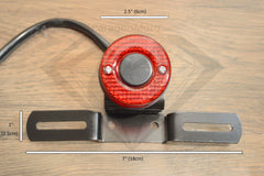 Motorcycle Tail Brake Stop Lights & License Plate Holder for Cafe Racer, Bobber, etc. - Paragon Moto  - 4