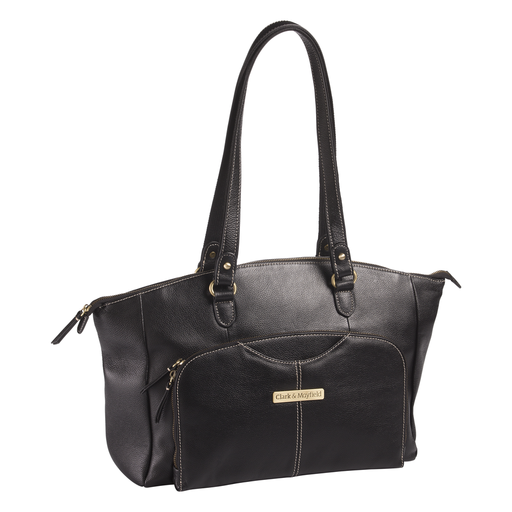 "15.6"" Alder Leather Handbag - Black"