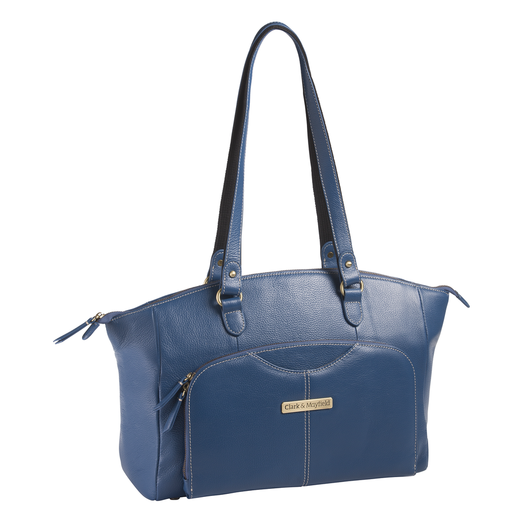 "15.6"" Alder Leather Handbag - Blue"