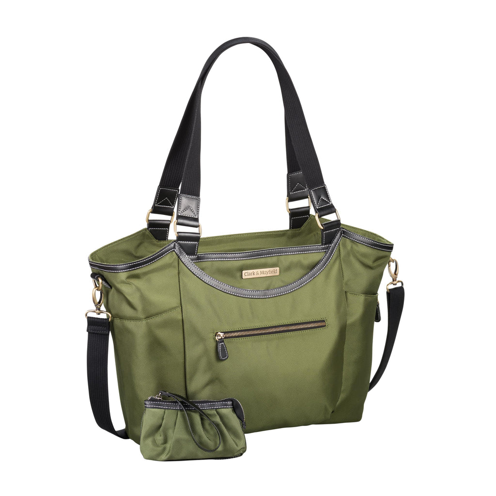 "18.4"" Bellevue Handbag - Pesto Green"