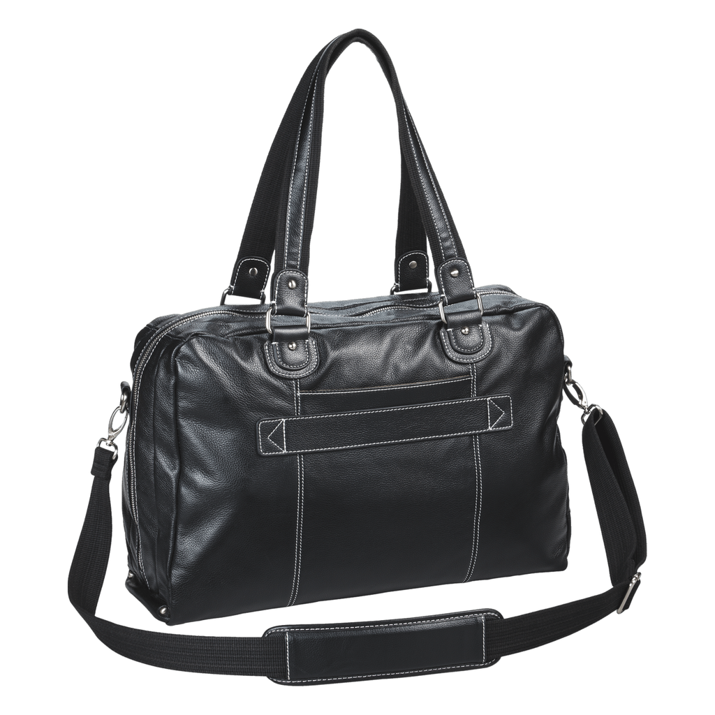 "18.4"" Morrison Leather Handbag - Black"