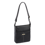 Morrison Leather Tablet Crossbody - Black