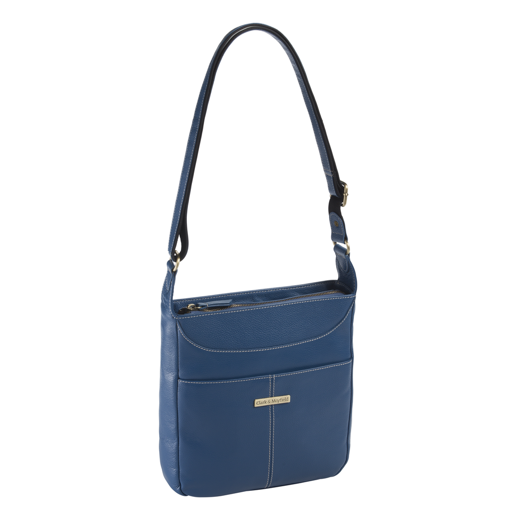 Morrison Leather Tablet Crossbody - Blue