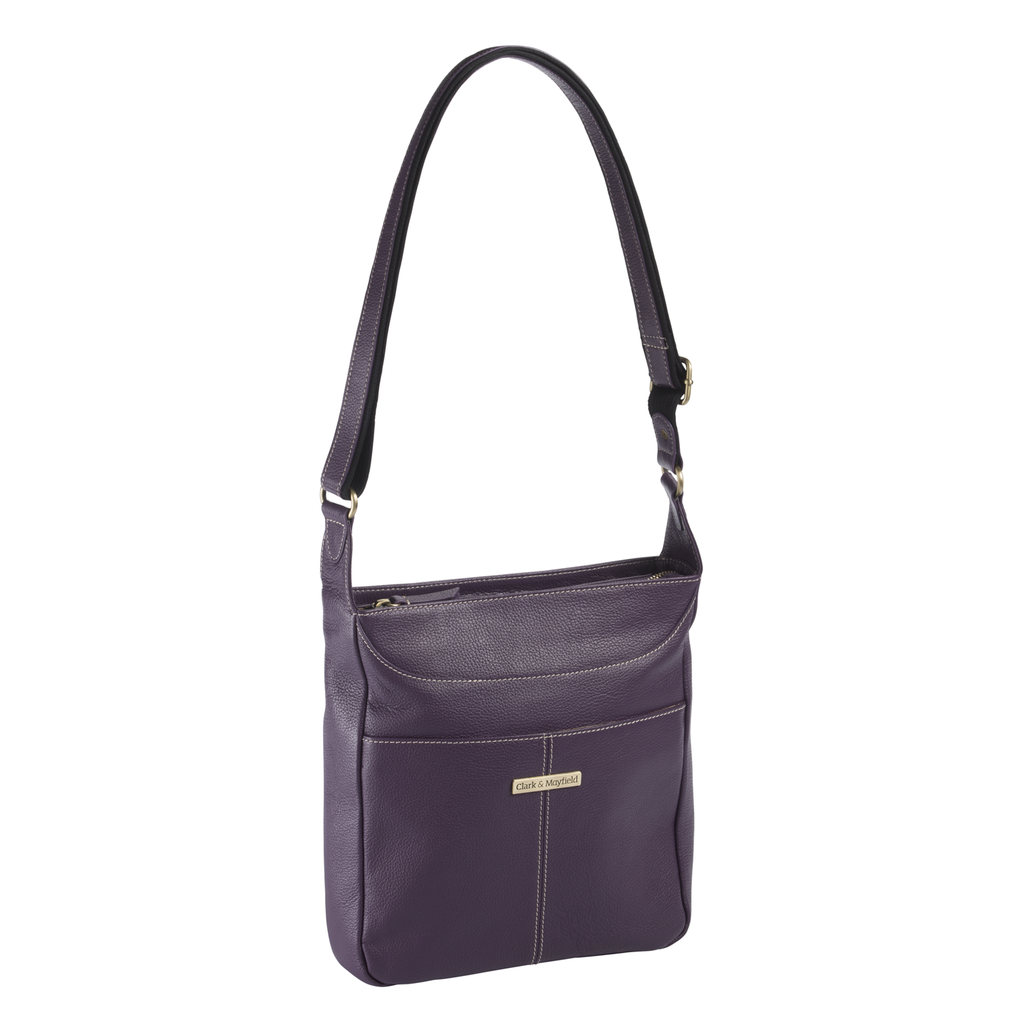 Morrison Leather Tablet Crossbody - Purple
