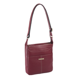 Morrison Leather Tablet Crossbody - Red