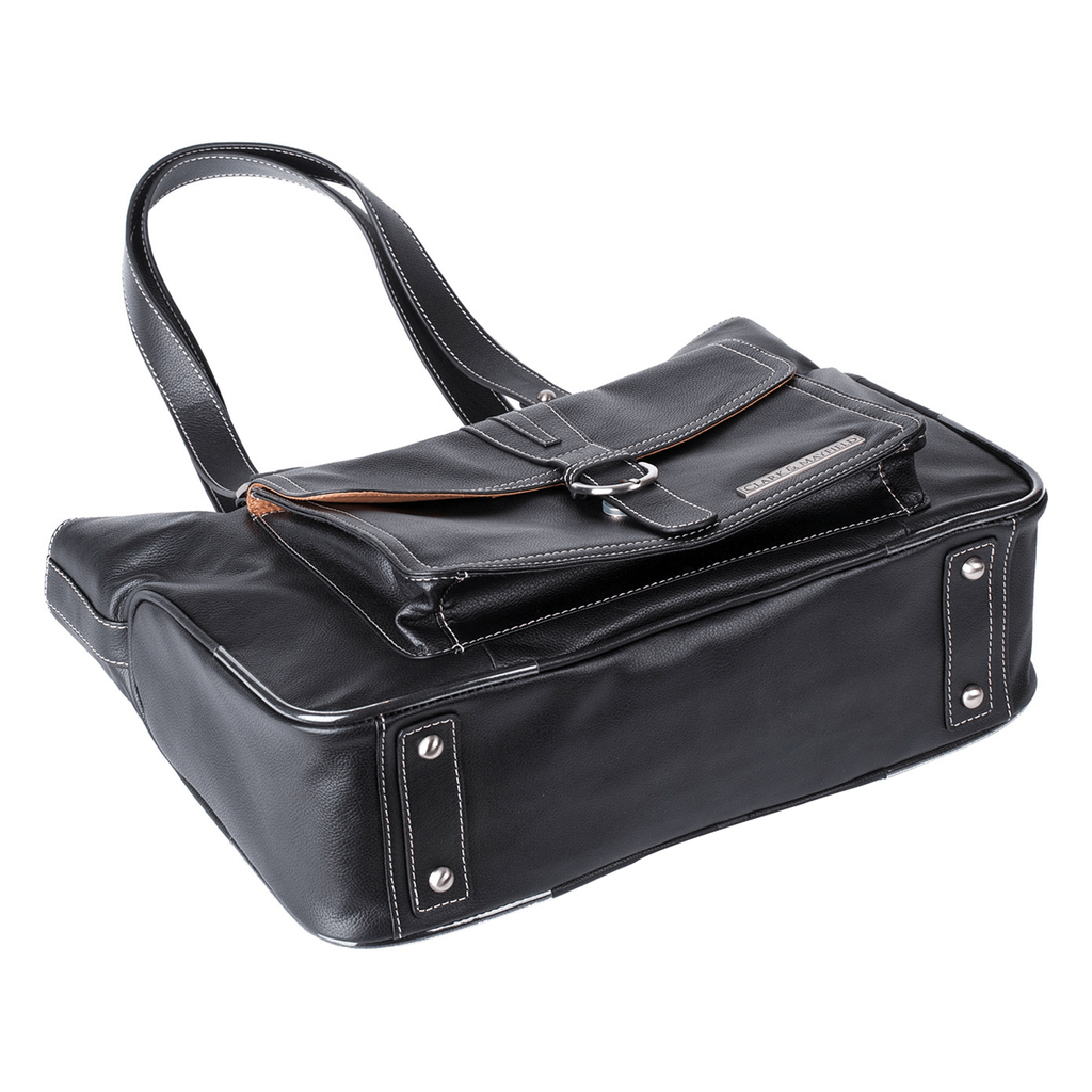 "15.6"" Stafford Leather Pro Handbag -  Black"
