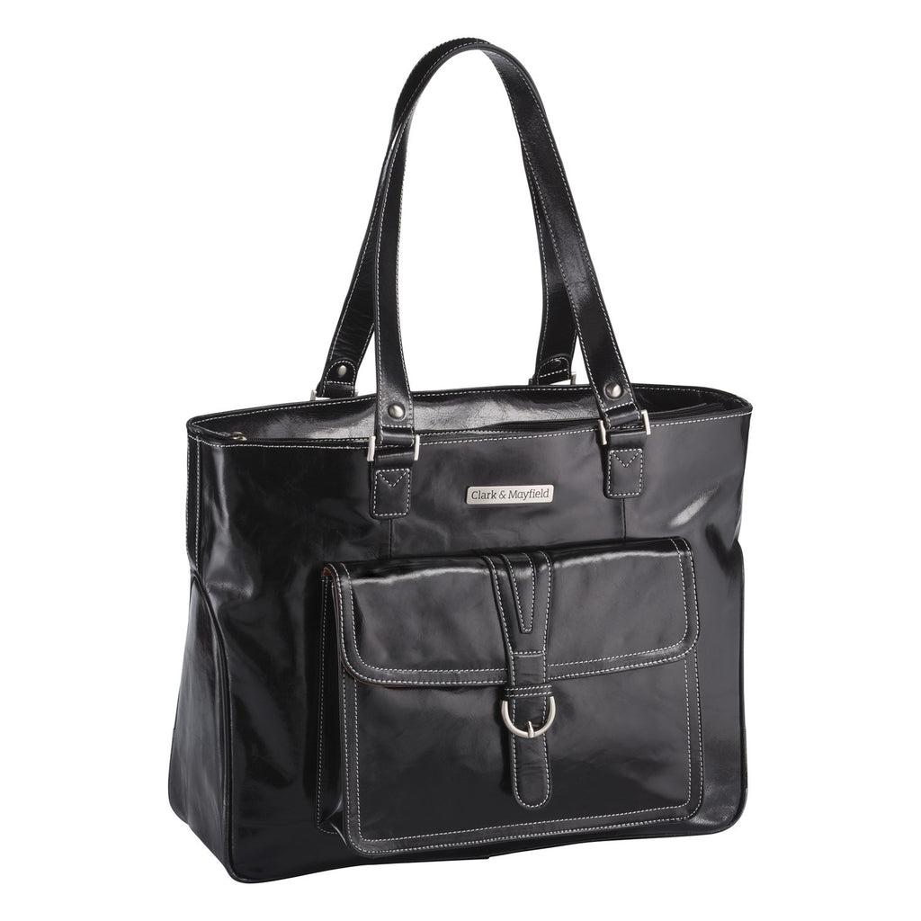"17.3"" Stafford Vintage Leather Handbag - Black"