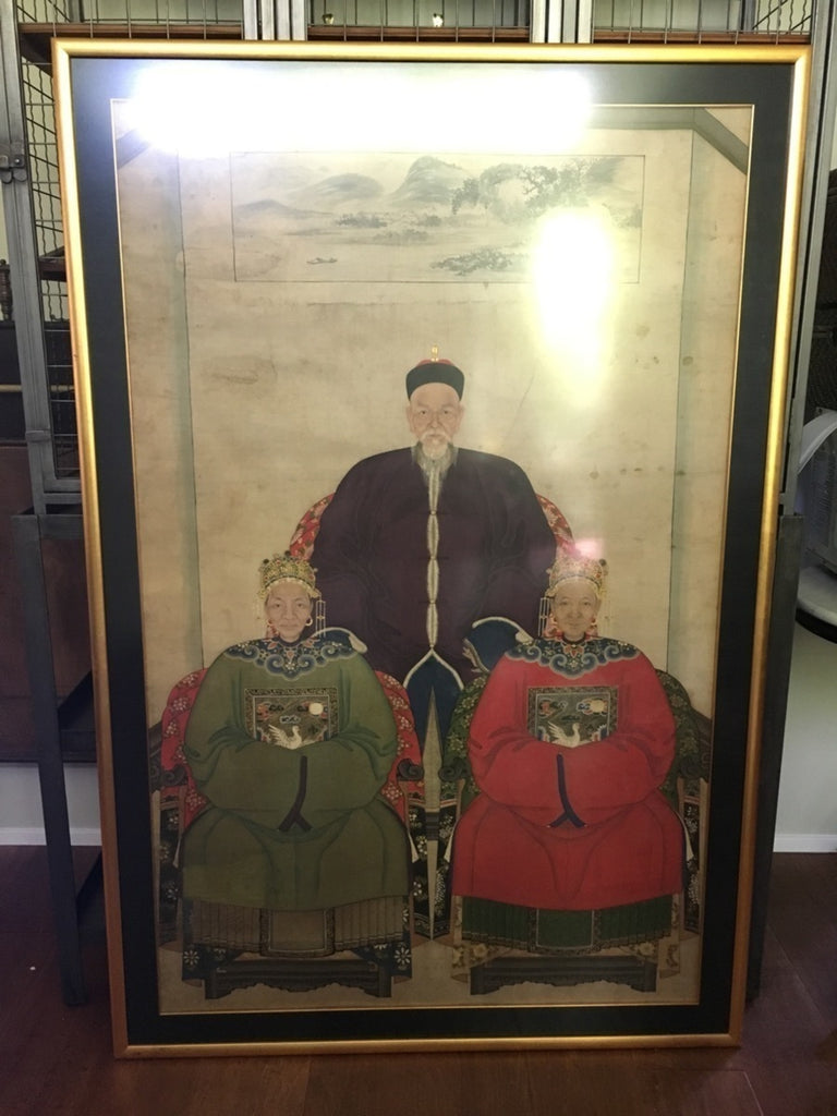 Vintage Chinese Ancestral Portrait