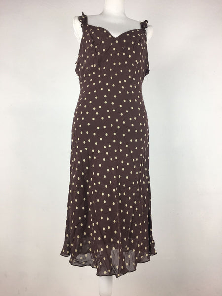 "Vintage 1980's ""R"" French polka dot dress"