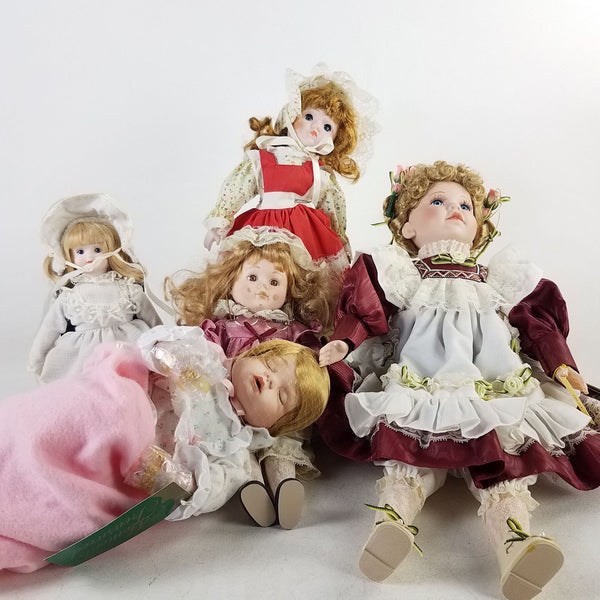 Lot of 5 Collectible Vintage Doll