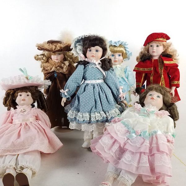 Lot of 6 Collectible Vintage Doll