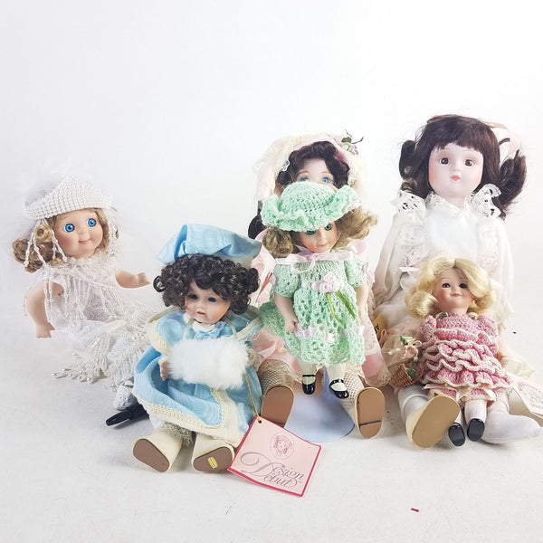 Lot of 6 Collectible Dolls