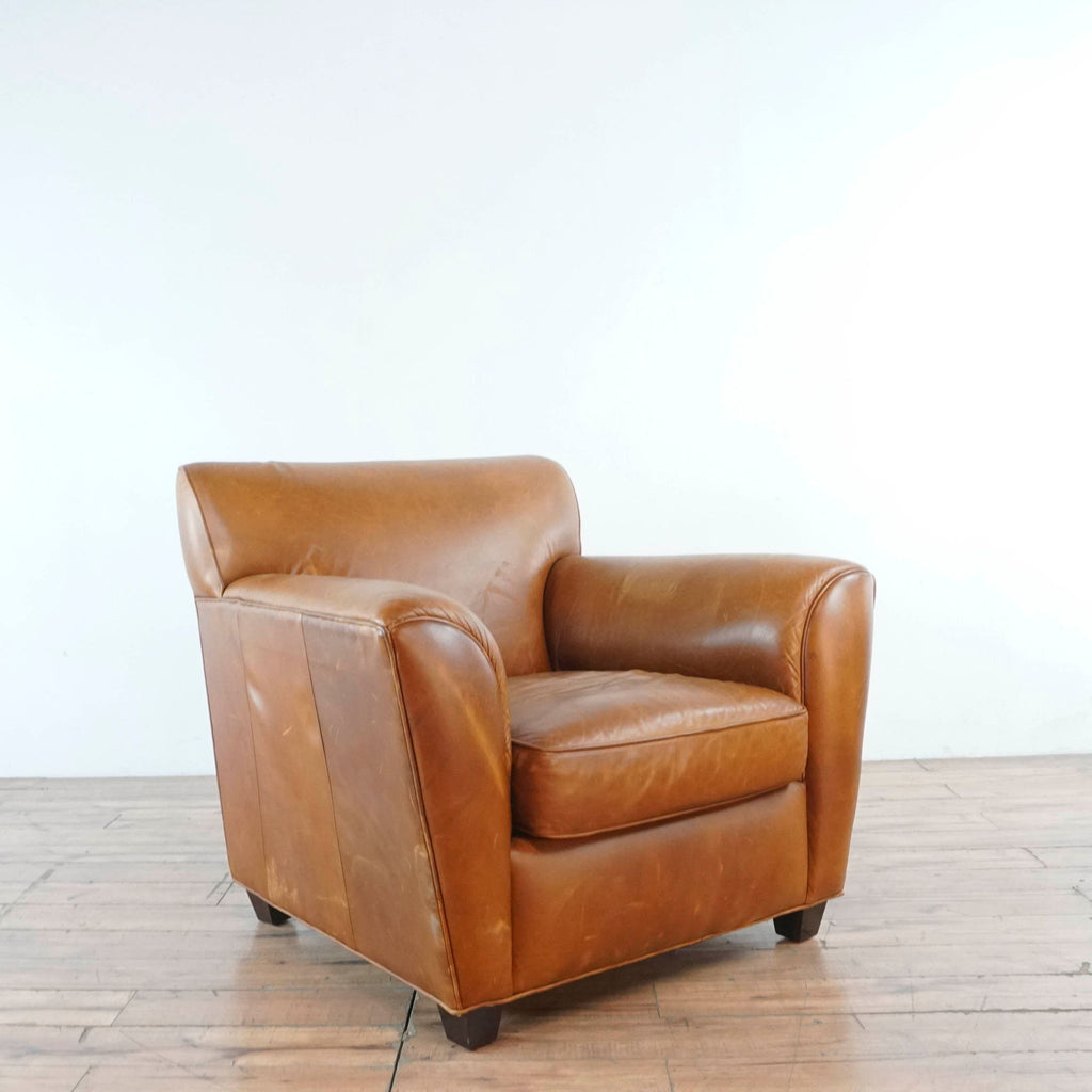 "Pair of Club Furniture Soho ""Design Style"" Wing Arm Leather Club Chair"