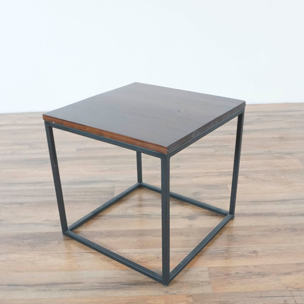 Wood and Metal Accent Tables