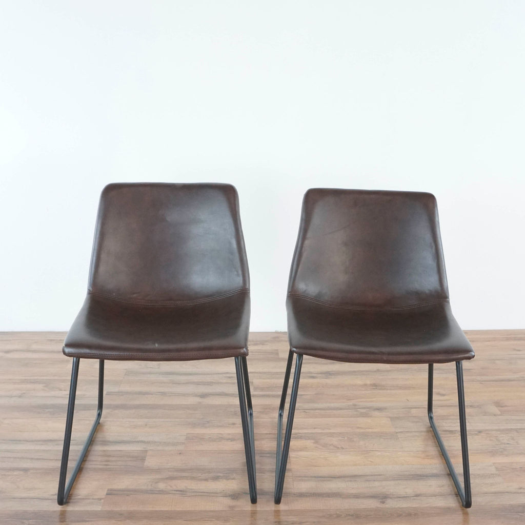 Pair of Bucket Style Dining Chairs