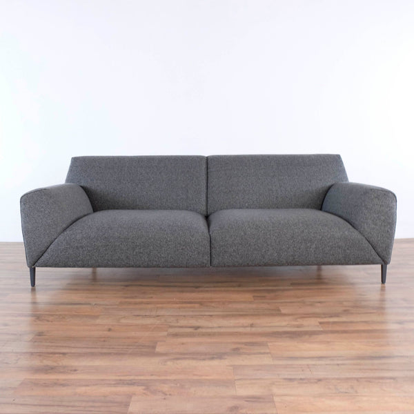 Ersa Gray Upholstered Denver Santur Sofa
