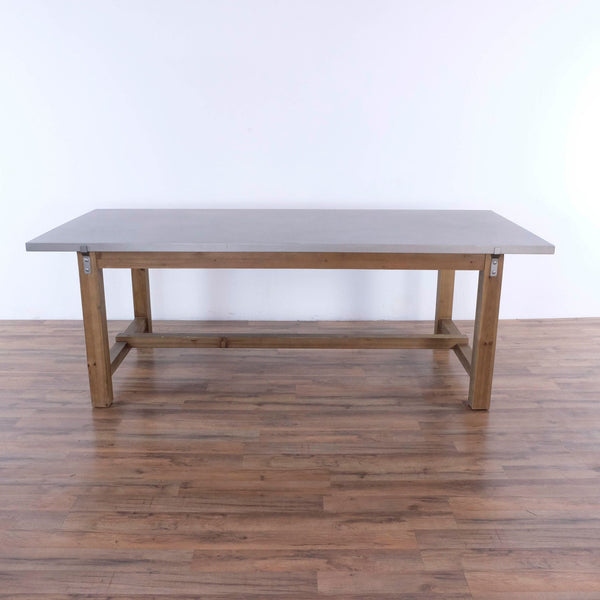 Zuo Modern Gray and Distressed Fir Greenpoint Dining Table