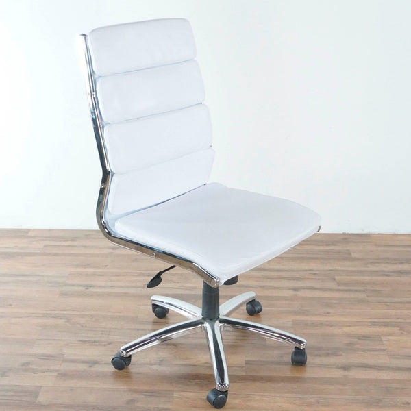 White and Chrome Office Chair
