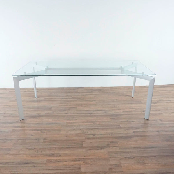 Design Within Reach Glass and Metal Dining Table