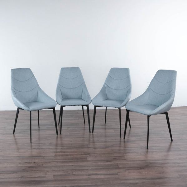 Set of Four Upholstered Dining Chairs