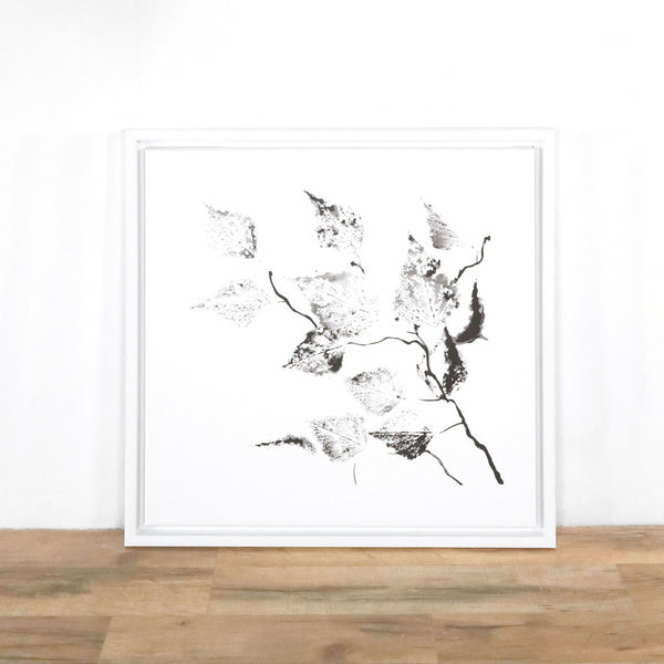 Framed Art Print of Leaves