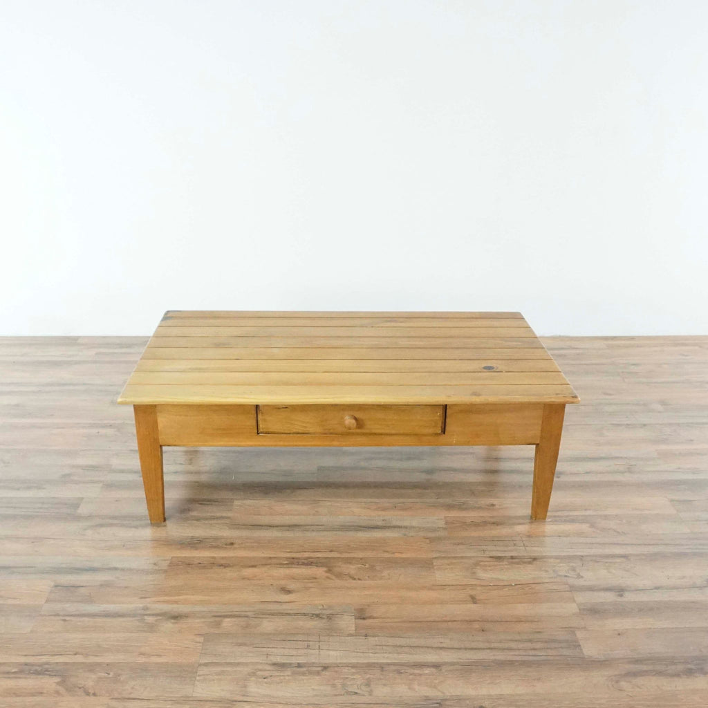 Pottery Barn Oak Coffee Table