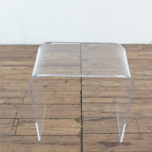 Pair of Clear Acrylic End Tables
