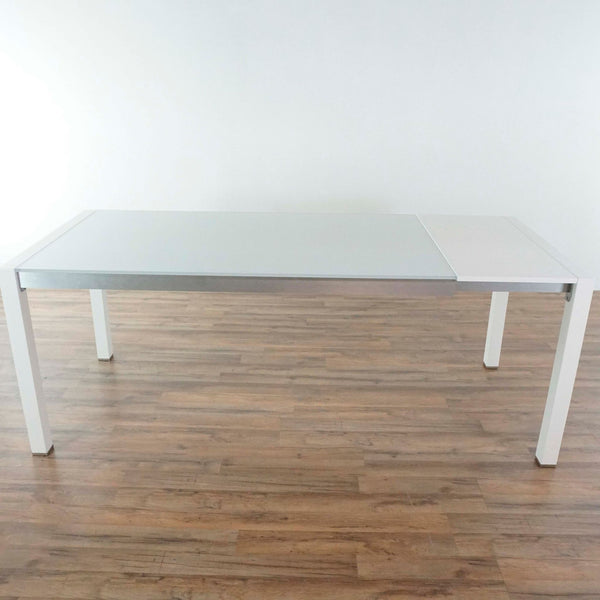 Room & Board Glass Top End Table