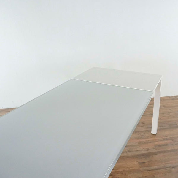 Room & Board Glass Top Console Table