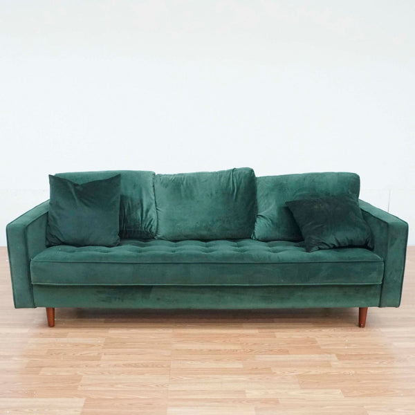 Green Upholstered Sofa