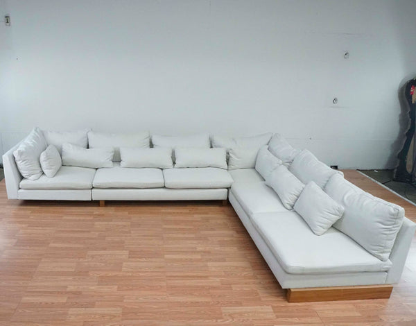 West Elm White Upholstered Sectional