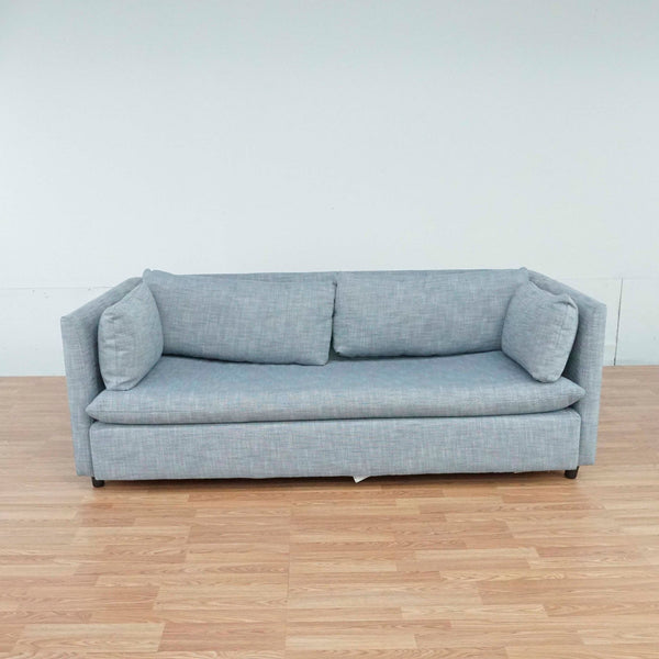 West Elm Gray Upholstered Sleeper Sofa
