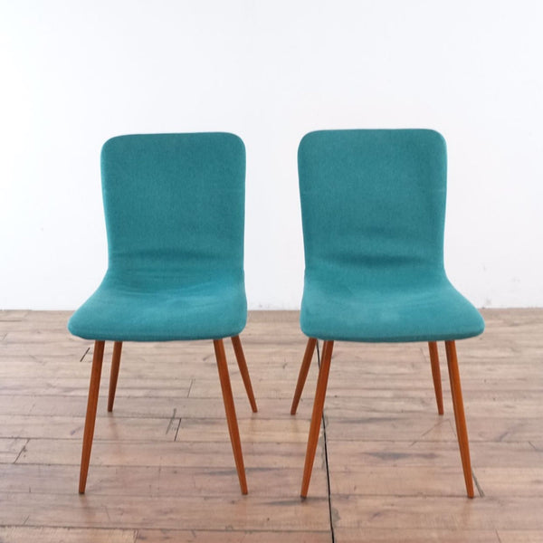 Pair of Turquoise Dining Chairs