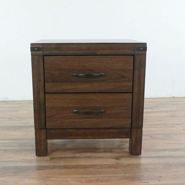 Living Spaces Willow Creek II Two Drawer Nightstand
