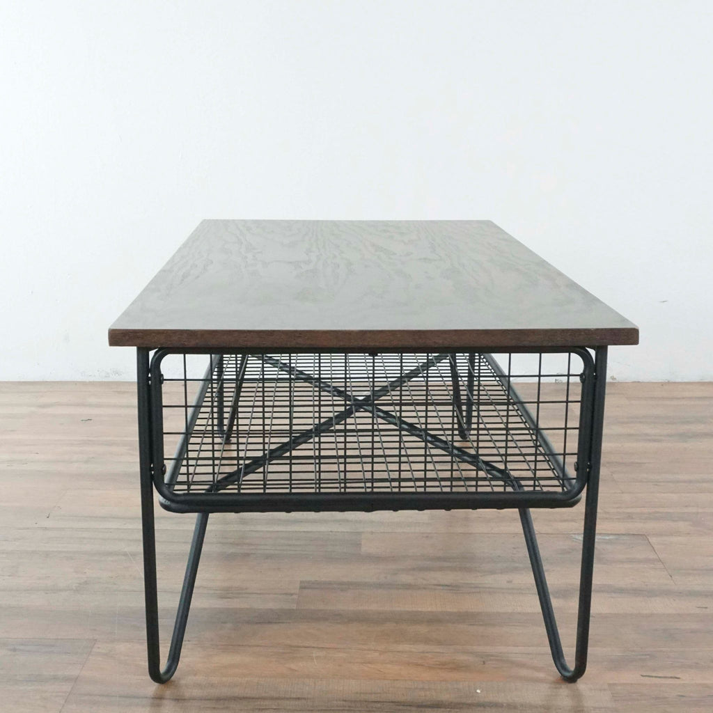 Pair of Kreiss Metal Scroll End tables with Glass Top