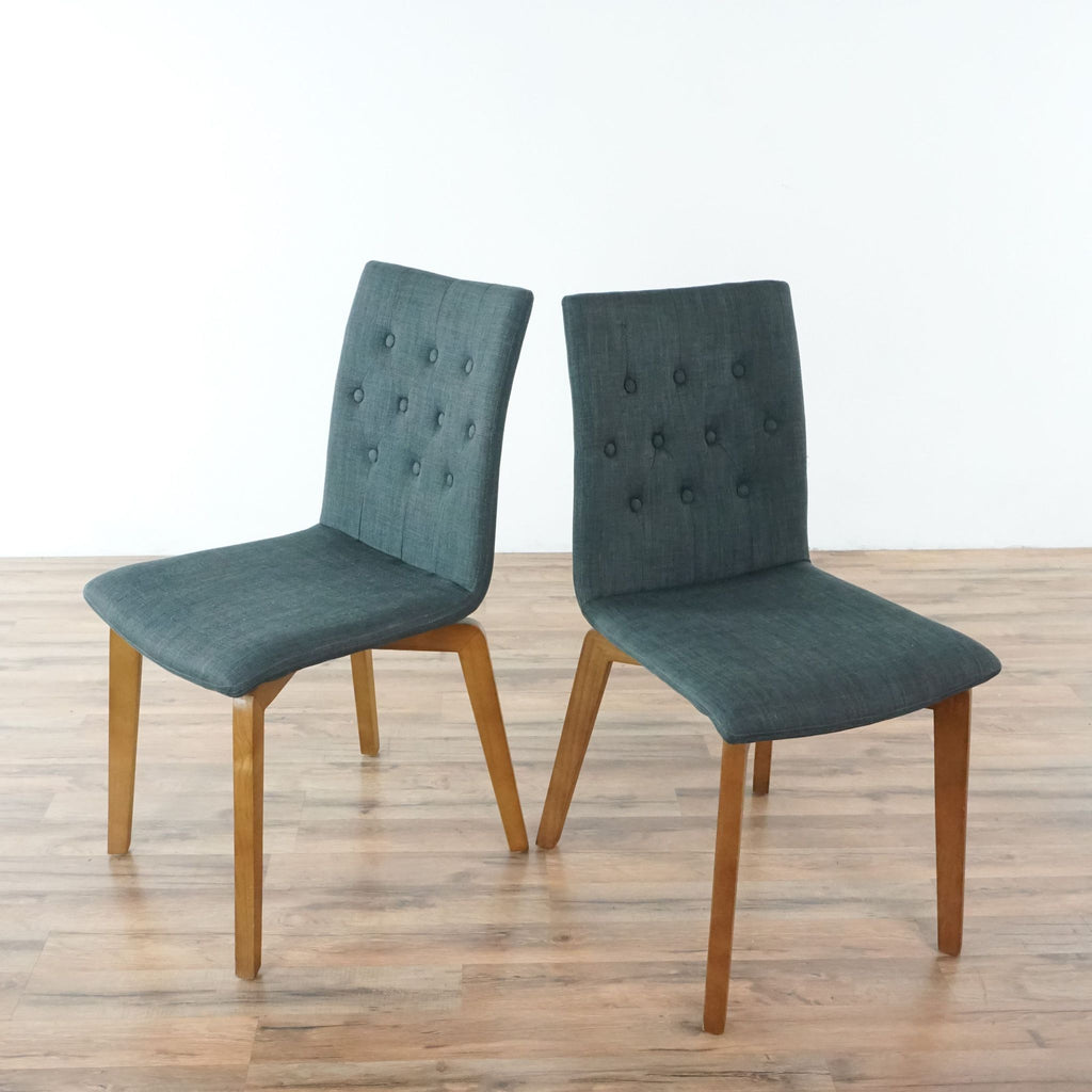 Pair of Zuo Modern Orebro Dining Chairs in Graphite