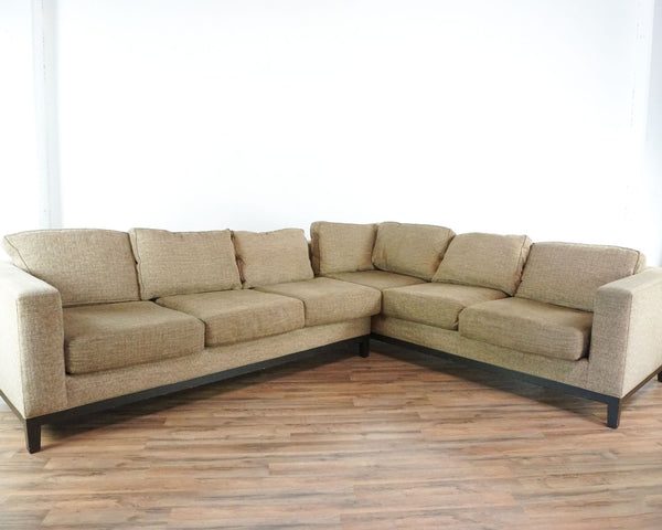 Crate and Barrel Upholstered Sectional